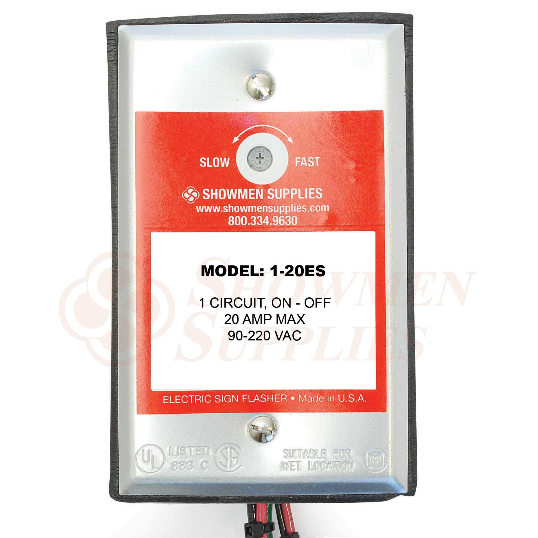 1-20ES Flasher - 1 Circuit