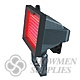 LED Floodlight Fixture with Mounting Bracket-Red