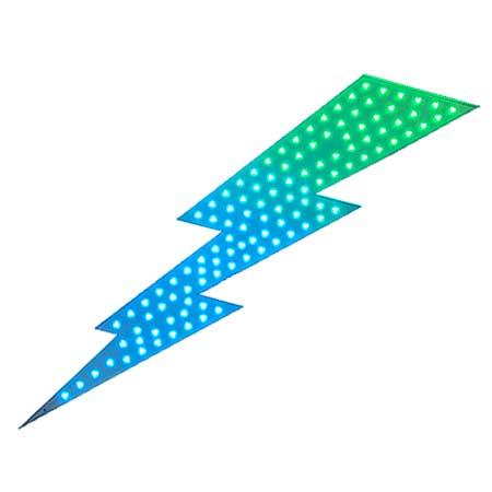 Lightning Bolt LED Sign - 6 Feet Tall