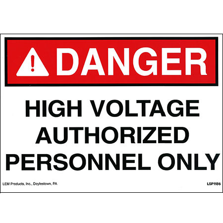 High Voltage Waring Sign Stick-on