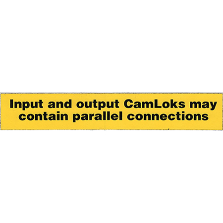 CamLok Parallel Connections Label