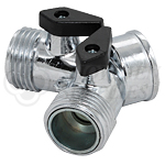 """Water Line """"Y"""" with Cutoff - Chrome"""